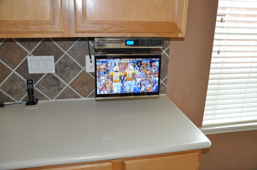 Under The Kitchen Cabinet Smart Television