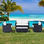 Outsunny 4pcs Rattan Wicker Sofa Set...