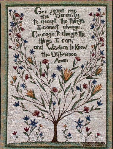 Manual Inspirational Collection Wall Hanging, Serenity Prayer X Cindy Shamp, 13 X 18-Inch front-940153