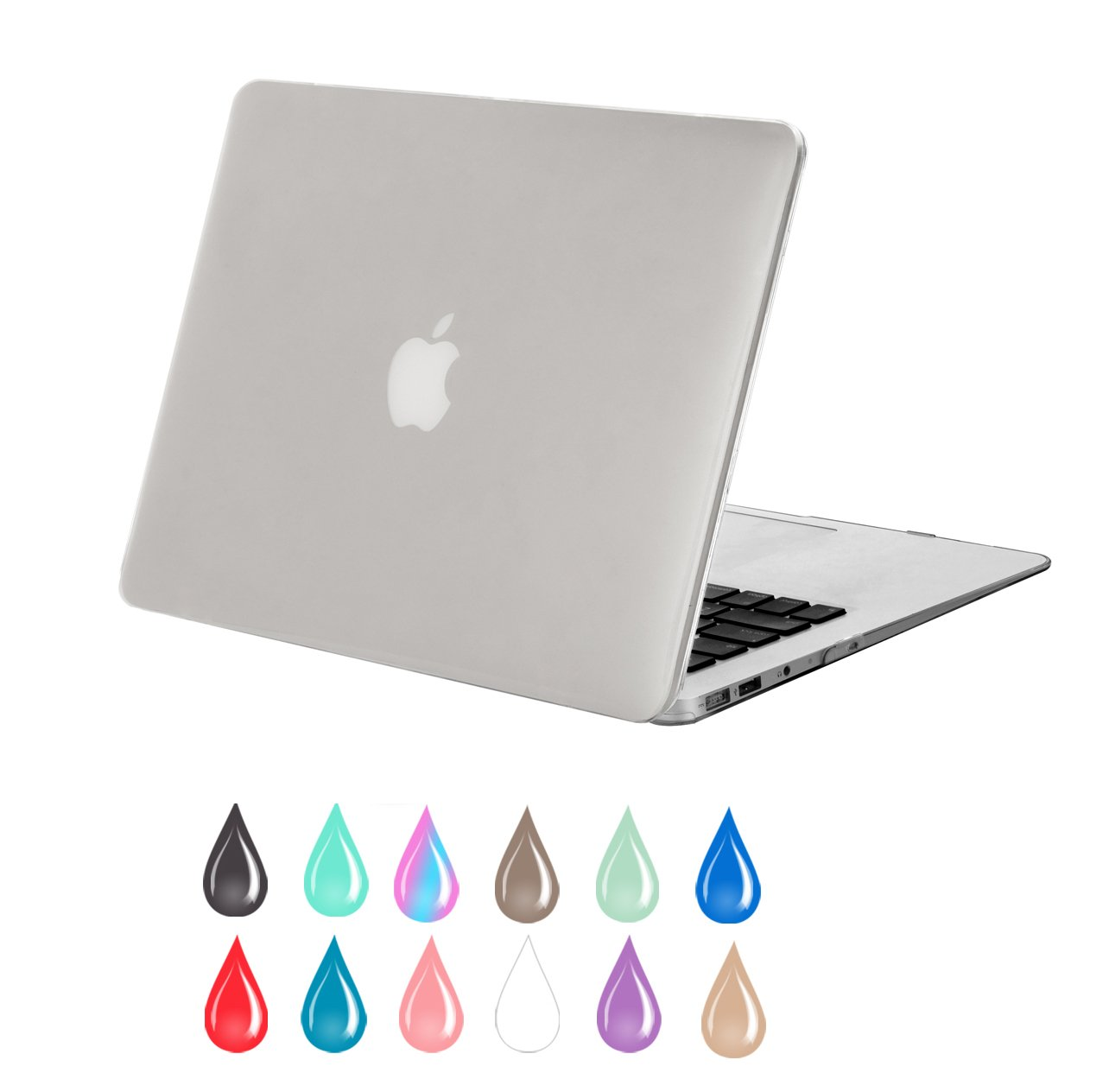 "Mosiso - Clear Crystal AIR 13-inch See Through Hard Shell Snap On Case Cover for Apple MacBook Air 13.3"" (Models: A1369 and A1466) (Clear/Crystal)"