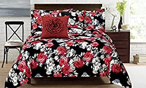 American Beauty 5Pc Microfiber Comforter Set - Queen