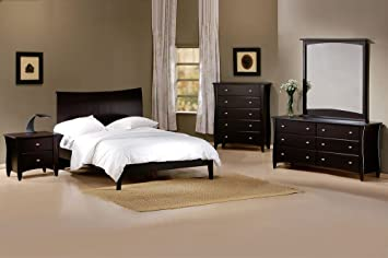 J&M Furniture Domain Platform Bedroom Set in Java - Queen Size
