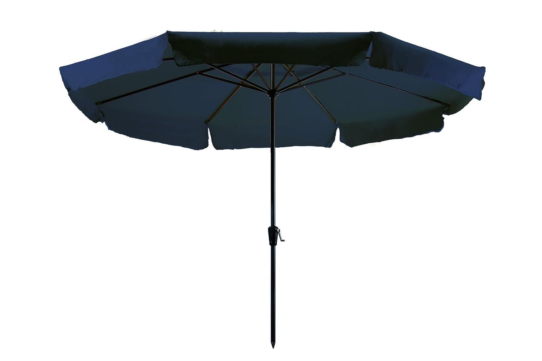 Madison Kurbelschirm Rhodos 350 dunkelblau mit UV-Schutz 40 Plus blau
