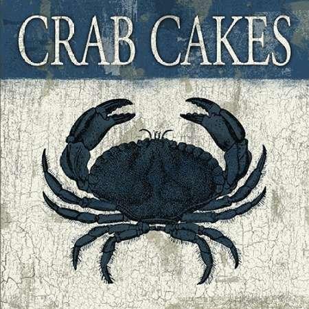 Crabe Gâteaux Bleu par Gris, Jace-Fine Art Print Disponible sur papier et toile, Toile, bleu, SMALL (12.5 x 12.5 Inches )