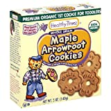 Healthy Times Premium Organic 1st Cookie, Maple Arrowroot Cookies, 5-Ounce Box (Pack of 12)