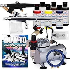 Complete Airbrush Cake Decorating Set : Amazon.com: PointZero Complete Airbrush Cake Decorating ...