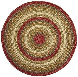homespice decor aberdeen jute braided trivet rug 15