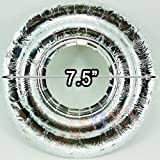 40 pcs. UNIVERSAL Aluminum Foil Gas Burner Bib Liners Covers Disposal Round