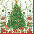 Entertaining with Caspari Luncheon Napkins, Christmas at The Garden, Pack of 20