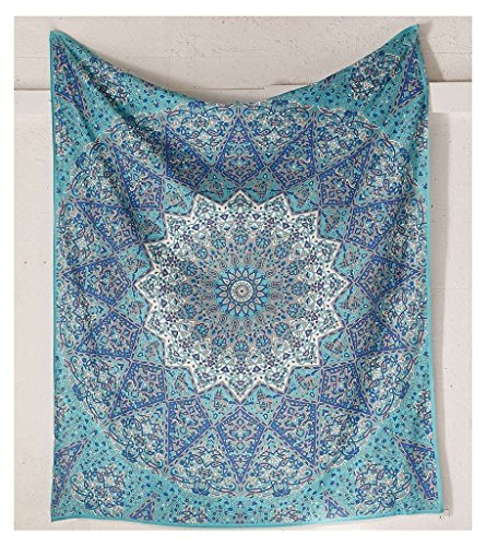 Bless-InternationalTM-Indian-Hippie-Ethnic-Bohemian-Psychedelic-Blue-Star-Handmade-Tapestry-with-Exclusive-Bestseller-eBook