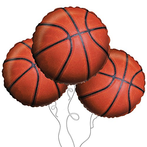 "Basketball 18"" Mylar Balloon 3pk"