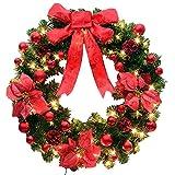 WitkeyCos クリスマスリース クリスマスリース玄関 クリスマスリース玄関用 led クリスマス 豪華 赤 50 クリスマスリース玄関よう キット クリスマスリース材料 手作り 飾り 50cm クリスマスリースキット 玄関 材料 大 ゴールド かわいい かざり きっと ぬいぐるみ まつぼっくり もみの木 led付き lサイズ xl 100 25cm 20センチ 20 20cm 30cm 30 35cm 40センチ 40 40cm 45cm 45センチ 45 50センチ 50 58 60cm 60 70 70cm 80センチ 80cm 80 50CM レッド