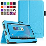 "Fintie Chromo 7"" Tablet Folio Case Cover - Premium Leather With Stylus Holder for Chromo Inc 7 Inch Android Tablet - Blue"