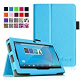 """Fintie Chromo 7"""" Tablet Folio Case Cover - Premium PU Leather With Stylus Holder for Chromo Inc 7 Inch Android Tablet - Blue"""