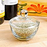 (Set of 2) Clear Glass Sugar Bowls with Lid - 8 Ounce