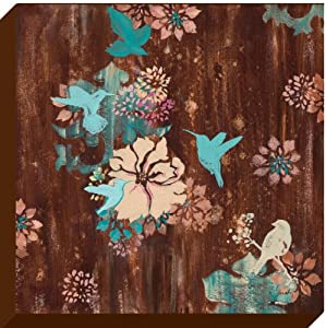 oopsy daisy turquoise and brown birds. Black Bedroom Furniture Sets. Home Design Ideas