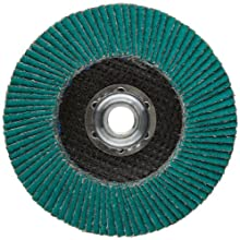 "3M Flap Disc 577F, T27 Giant, Alumina Zirconia, Dry/Wet, 4-1/2"" Diameter, 40 Grit, 5/8""-11 Thread Size (Pack of 1)"