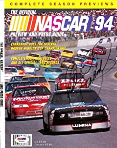 Dale Earnhardt Autographed Hand Signed Magazine Cover PSA DNA #S00405 by Hall of Fame Memorabilia