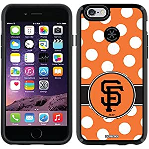 Coveroo CandyShell Black Cell Phone Case for iPhone 6 - Retail Packaging - San Francisco Giants Polka Dots