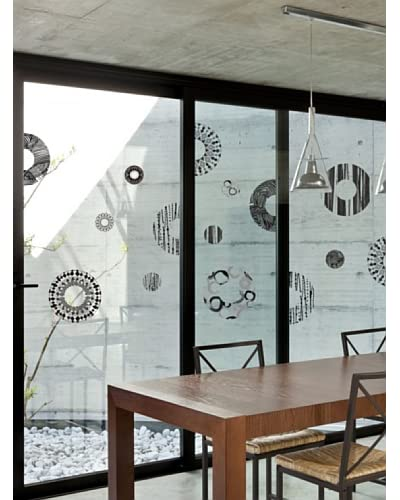 Ambiance Live Vinilo Decorativo Grey and designs circles Multicolor