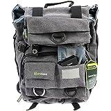 Evecase Canvas DSLR Camera Backpack w/Laptop Compartment & Rain Cover for Nikon D810, D800/D800E, D750, D700, D610, D600, D90, D80, D60, D7200, D7100, D7000, D5500, D5300, D5200, D3300 (Gray)