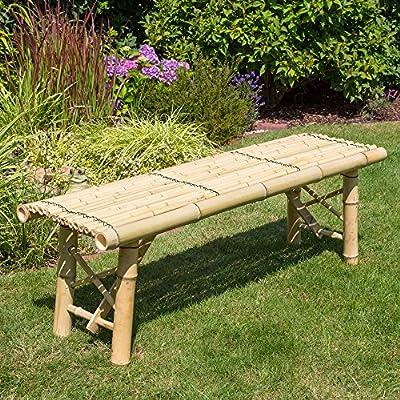 Homestyle4u Gartenbank Sitzbank Bank Bambusbank Bambus Holzbank Terrassenbank natur von Homestyle4u bei Gartenmöbel von Du und Dein Garten