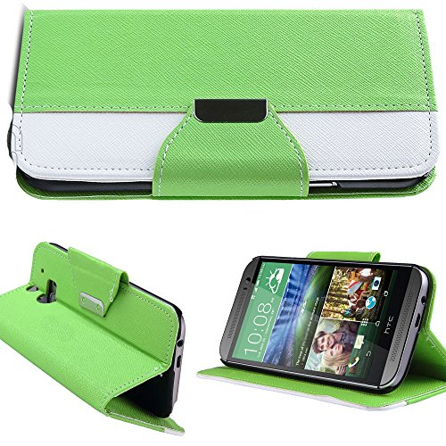 Mylife (Tm) Budding Green Tree {Hipster Design} Faux Leather (Card, Cash And Id Holder + Magnetic Closing) Slim Wallet For The All-New Htc One M8 Android Smartphone - Aka, 2Nd Gen Htc One (External Textured Synthetic Leather With Magnetic Clip + Internal