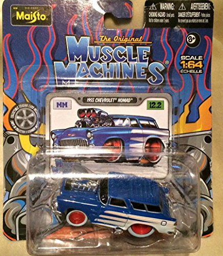 1955 Chevrolet Nomad (Blue) The Original Muscle Machines Series 12 Maisto 1:64 Scale Die-Cast Vehicle Collection