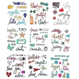 DECORA 9 Pieces Different Design Clear Rubber Stamp for Card Decoration and Scrapbooking