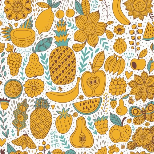 my-favorite-recipes-cookbook-blank-cookbook-150-pages-85-x-85-inches-yellow-fruit-design