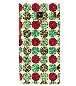 Printvisa Multicolour Circular Pattern Back Case Cover for Xiaomi Redmi 1S::Xiaomi Redmi (1st Gen)