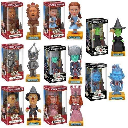 Buy Low Price Funko Wizard of Oz 8 Piece Wacky Wobbler Bobblehead Set Figure (B003MKJ5SS)