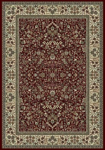 153820 6 7 X 9 6 Rug Depot Traditional Area Rug Royal Garden Collection Red Background Machine Made Of 100 Polypropelene Fibers 1 Million Point Density T 7 Quality Rating Area Rugs
