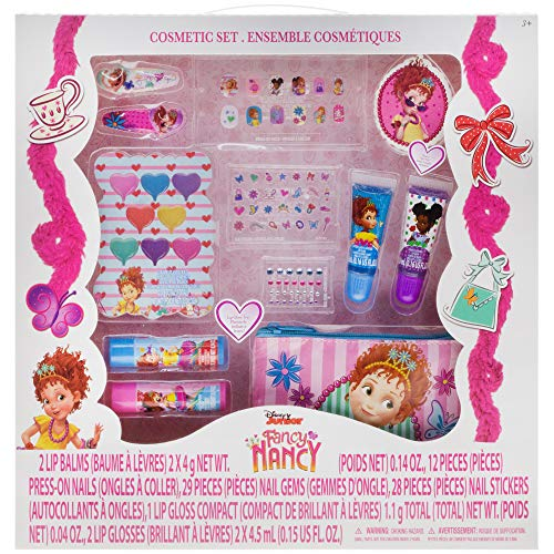 ''Fancy Nancy Beauty Kit, Kids Washable, Lip balms, glosses, press on NAILS, gems, stickers, barrette