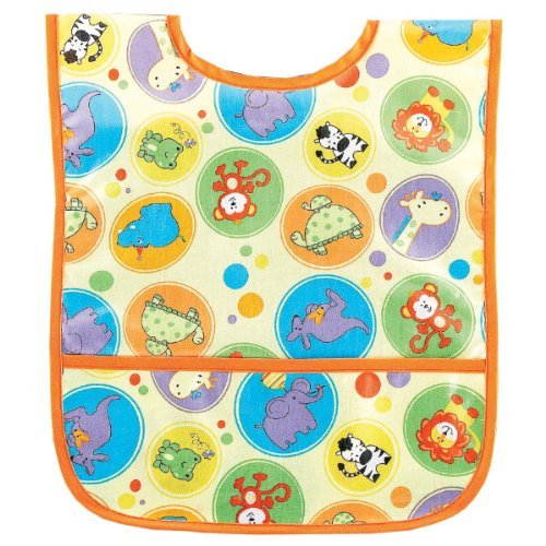 AM PM Kids! Am Pm Kids! Laminated Bib, Zoo Animals, Small