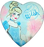 Disney Princess Cinderella Heart Shape Sequin Candy Box with Chocolates