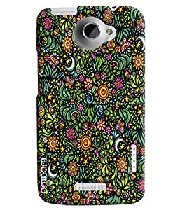Omnam Pattern Of Flowers Printed Designer Back Cover Case For HTC One X