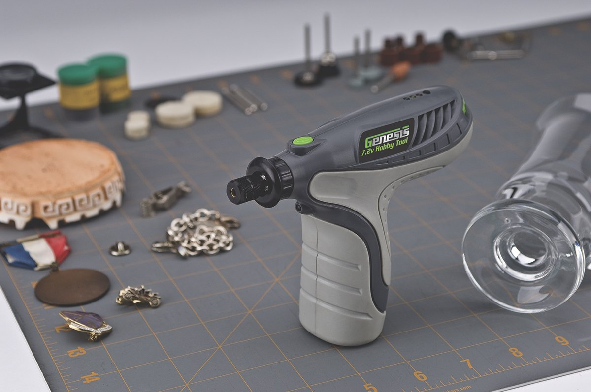 Genesis GLHT72-65 7.2V Lithium-Ion Rotary Tool with 65 Accessories Grey
