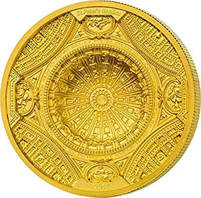 2016 CK st peters basilica ST PETERS BASILICA 4 Layer Gold Coin 100$ Cook Islands 2016 Dollar Perfect Uncirculated