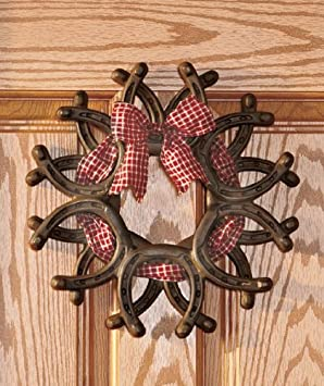 Amazing Wreaths Decorative Horseshoe Wreath Western Wall Hanging Indoor  Outdoor Decor Country Primitive Home Accent