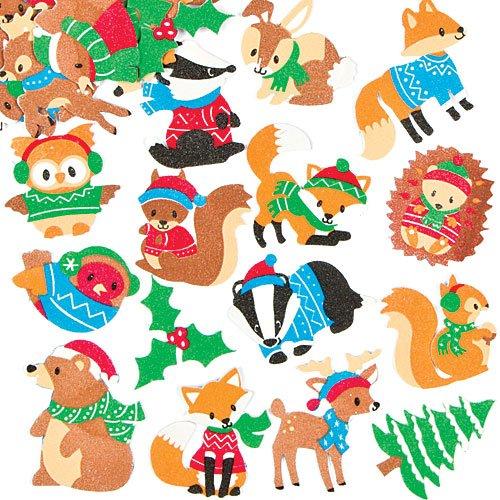 moosgummi-aufkleber-tiere-im-winterwald-fur-kinder-zum-gestalten-von-weihnachtskarten-collagen-und-f