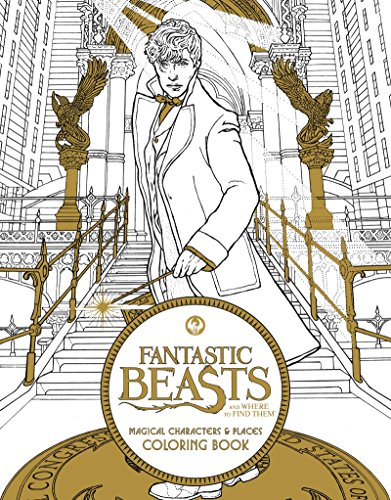 Fantastic Beasts Magical Characters and Places Coloring Book