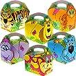 German Trendseller� - 8 x Dschungel Tiere 3D ┃ Party Boxen mit Griff zum Bef�llen ┃ Kindergeburtstag