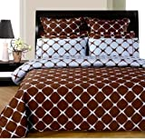 Chocolate and Blue 8PC Bloomingdale Duvet covers & sheet Set