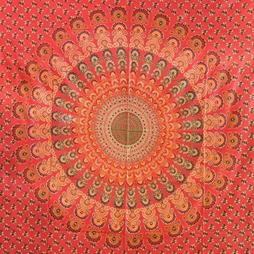 Colcha pavo rojo anaranjado 225x200cm Cortina decoración