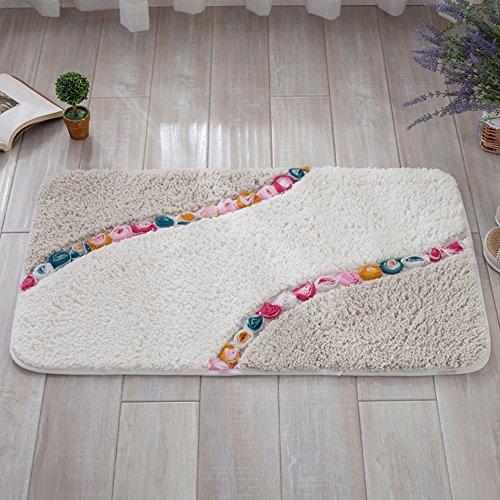 ieasycan rectangle shape garden roses mat embossing rugs floor mats