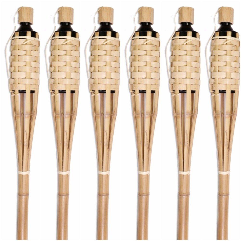 Tall Bamboo Tiki Torches Luau
