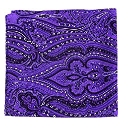 PS-A-531 - Silk Pocket Square - Purple - Charcoal