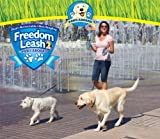 Freedom Leash 2 New Model Compact Size Lighter Weight- Silver Dual Retractable Dog Leash Tangle Free 3220