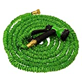 Water Hose With Water Hose Nozzle - Water Hoses Expandable to 50ft - Compatibile With Water Hose Holder - Includes 8 Function Water Hose Spray Nozzle With Water Hose Quick Connect Brass Threading